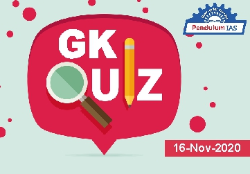 GK Quiz 16 November 2020