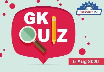 GK Quiz 5 August 2020