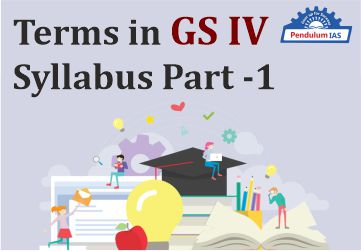 Terms given in GS IV Syllabus-Part-1